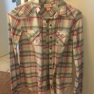 Button down plaid top size small